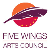 five wings arts council logo
